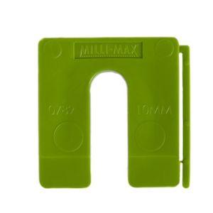 Uitvulplaatjes 10mm groen 40st