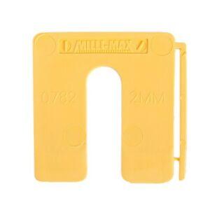 Uitvulplaatjes 2mm geel 200st
