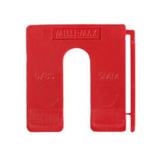 Uitvulplaatjes 5mm rood 80st