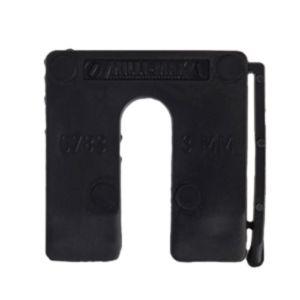 Uitvulplaatjes 3mm zwart 130st