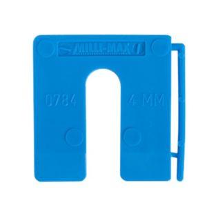 Uitvulplaatjes 4mm blauw 100st